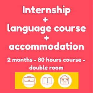 Internships + Spanish course + accommodation (2 months-double room)
