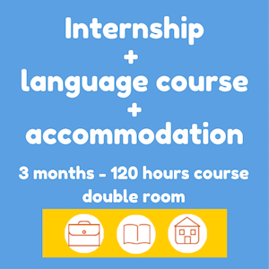Internships + Spanish course + accommodation (3 months-double room)