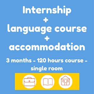 Internships + Spanish course + accommodation (3 months-single room)