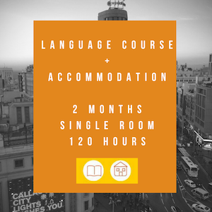 Language course+accommodation (2 months-120 hours)