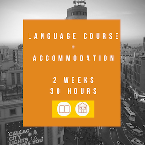 Language course+accommodation (2 weeks-30 hours)
